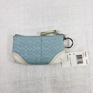 NWTs Coach Soho Mini Zip Card Wallet w/Key Ring